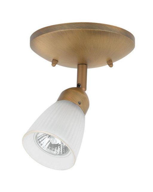 Globe Lighting 5772001 One Light Monopoint Flush Ceiling Fixture in Antique Brass Finish