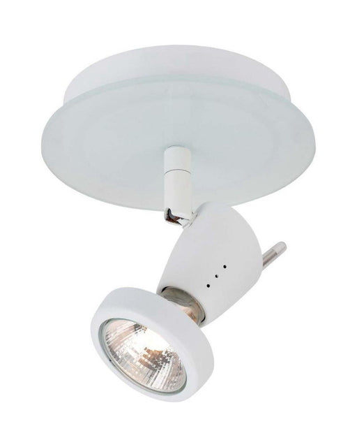 Globe Lighting 5746201 One Light Monopoint Flush Ceiling Fixture in White Finish