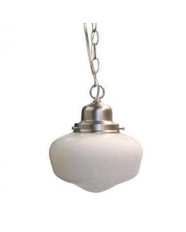 Epiphany Lighting 102028 BN One Light Schoolhouse Pendant in Brushed Nickel Finish - Quality Discount Lighting