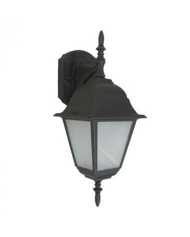 Trans Globe Lighting 4411PL RT One Light Energy Saving Fluorescent Outdoor Exterior Wall Mount in Rust Bronze Finish
