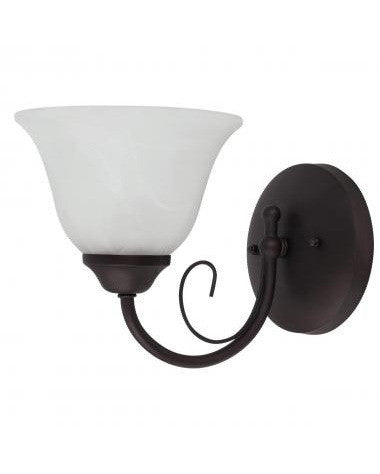 Globe Lighting 6211001 One Light Wall Sconce in Crimson Coffee Finish