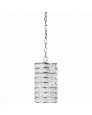 Globe Lighting 6153001 One Light Mini Pendant in Brushed Steel Finish