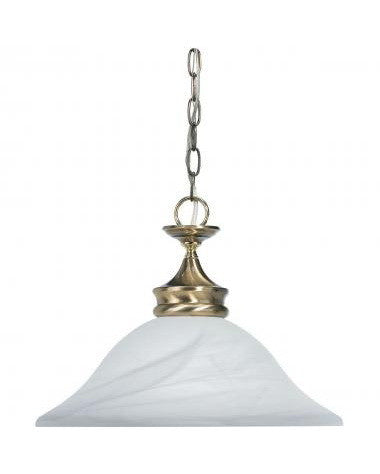 Globe Lighting 4452701 One Light Pendant in Antique Brass and Gold Finish
