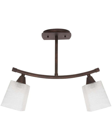 Globe Lighting 6115801 Two Light Semi Flush or Chandelier in Copper Patina Finish