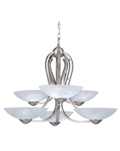 Kichler Lighting 11052 Six Light Chandelier in Brushed Nickel Finish - Quality Discount Lighting