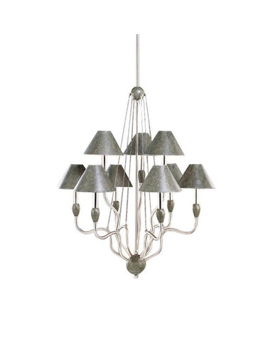 Kichler Lighting 34030 Nine Light Chandelier in Truscan Gold and Brushed Nickel Finish - Quality Discount Lighting