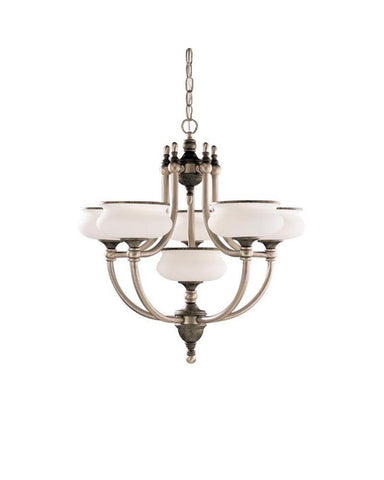 Kichler Lighting 34041 Five Light Chandelier in Truscan Gold and Brushed Nickel Finish - Quality Discount Lighting