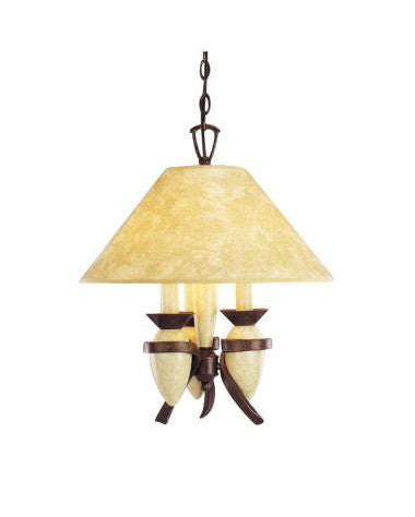 Kichler Lighting 34054 Three Light Pendant Chandelier in Tannery Bronze and Wrought Iron Crackle Finish - Quality Discount Lighting