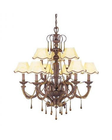 Kichler Lighting 34057 Nine Light Chandelier in Island Gold Finish - Quality Discount Lighting