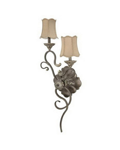 Nuvo Lighting 60-1151 Celeste Collection Two Light Left Hand Wall Sconce in Gold Coast Finish and Fabric Shades - Quality Discount Lighting