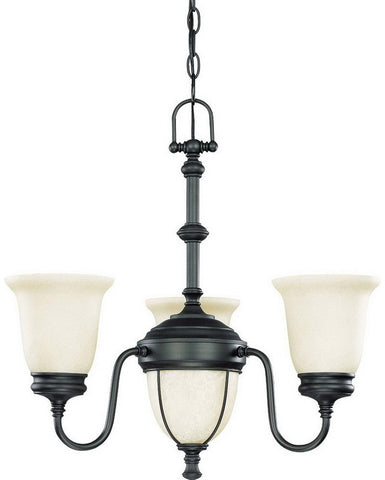 Nuvo Lighting 60-2805 Salem Collection Five Light Chandelier in Aged Bronze Finish - Quality Discount Lighting