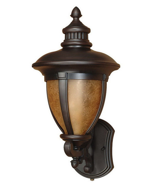 Nuvo Lighting 60-2518 Galeon Collection One Light Energy Efficient Fluorescent Exterior Outdoor Wall Lantern in Old Penny Bronze Finish - Quality Discount Lighting