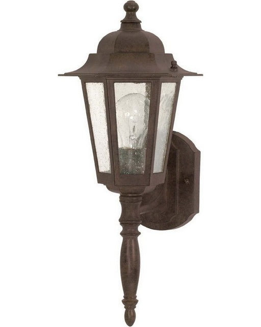 Nuvo Lighting 60-986 Cornerstone Collection One Light Exterior Outdoor Wall Lantern in Old Bronze Finish - Quality Discount Lighting