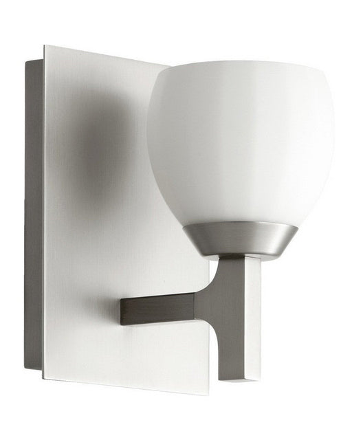 Quorum International 5667-1-65 One Light Wall Sconce in Satin Nickel Finish - Quality Discount Lighting