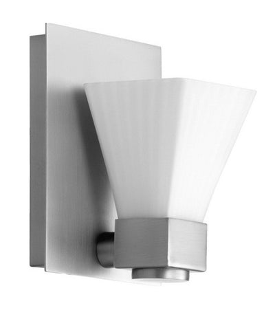 Quorum International 5671-1-65 One Light Wall Sconce in Satin Nickel Finish - Quality Discount Lighting