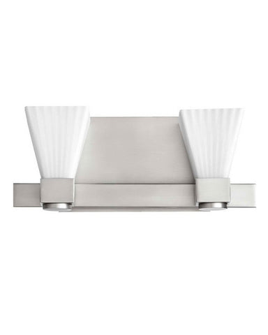Quorum International 5671-2-65 Two Light Bath Vanity Wall Mount in Satin Nickel Finish - Quality Discount Lighting