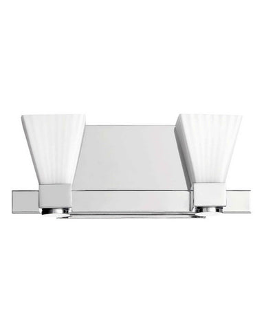 Quorum International 5671-2-14 Two Light Bath Vanity Wall Mount in Polished Chrome Finish - Quality Discount Lighting