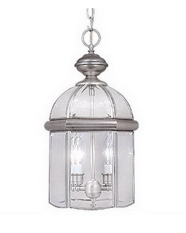 Vaxcel Lighting OD7916 BN Two Light Exterior Outdoor Hanging Lantern in Brushed Nickel Finish - Quality Discount Lighting