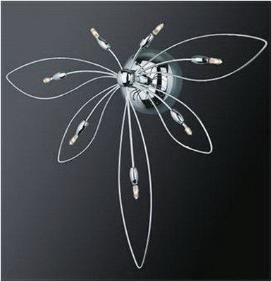 Trans Globe Lighting MDN-339 Dragonfly Seven Light Wall Sconce in Polished Chrome Finish - Quality Discount Lighting