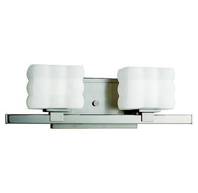 Kichler Lighting 5021 NI Two Light Bath Vanity Mount in Brushed Nickel Finish - Quality Discount Lighting