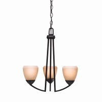 Kichler Lighting 1967 DBK Lyndon Collection Three Light Chandelier in Distressed Black Finish - Quality Discount Lighting