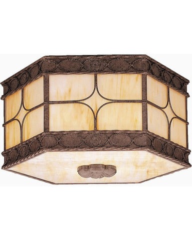 Kichler Lighting 10979 OI Palencia Collection Fluorescent Energy Saving Outdoor Exterior Ceiling Light in Olde Iron Finish - Quality Discount Lighting