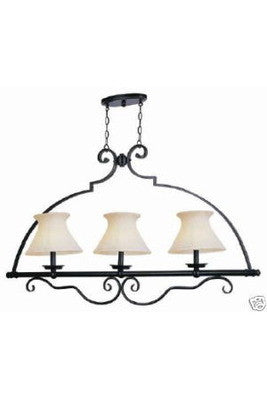Trans Globe Lighting 6353 WBZ Mediterranean Collection Three Light Island Chandelier in Weathered Bronze Finish