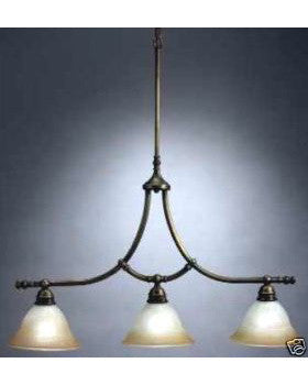 Kichler Lighting 34236 AB Three Light Island Chandelier in Antique Brass Finish - Quality Discount Lighting