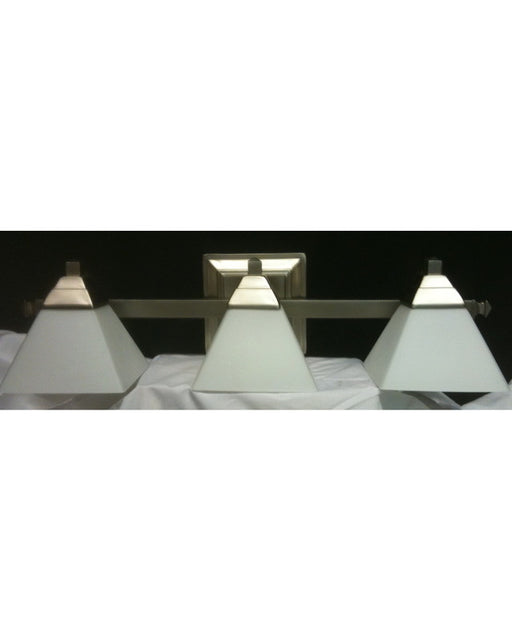 Rainbow Lighting S1388-04 SN Four Light Bath Wall Fixture in Satin Nickel Finish