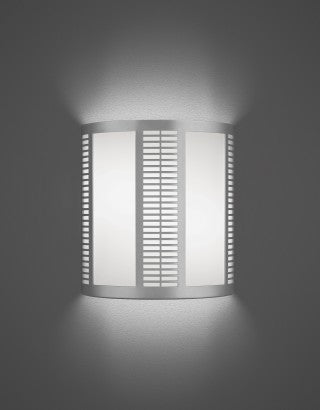 OCL Montage Collection Wall Sconce Model MG2-S1SA-2QD26-120v-Silver Metallic Energy Efficient ADA Sconce - Quality Discount Lighting