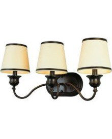 Trans Globe Lighting 7533 ROB Back To Basics Collection 3 Light Bath in Rubbed Oil Bronze Finish