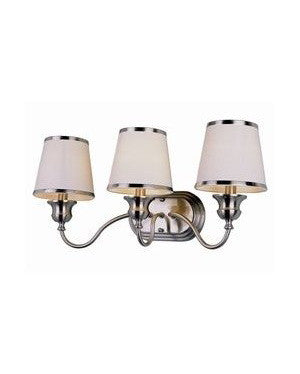 Trans Globe Lighting 7533 SN Back To Basics Collection 3 Light Bath in Satin Nickel Finish