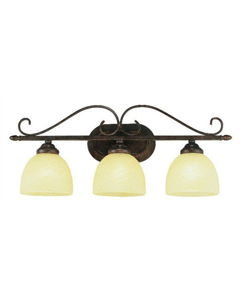 Trans Globe Lighting 7213 ABR Three Light Bath Wall in Antique Bronze Rust Finish