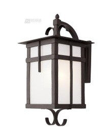 Trans Globe Lighting 5283 BK One Light Outdoor Wall Lantern in Black Finish