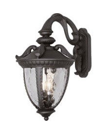 Trans Globe Lighting 5271 BK Two Light Outdoor Wall Lantern in Black Finish