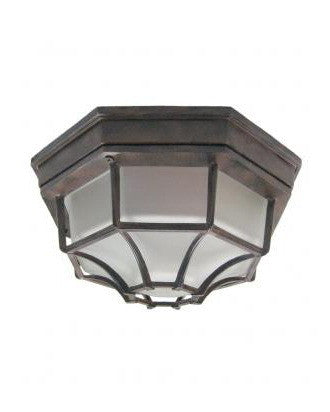 Epiphany Lighting EB460-26 CS Two Light Energy Efficient Fluorescent Cast Aluminum Outdoor Exterior Ceiling Mount in Cobblestone Finish - Quality Discount Lighting