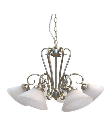 Epiphany Lighting 100306 BN Five Light Chandelier in Brushed Nickel Finish - Quality Discount Lighting