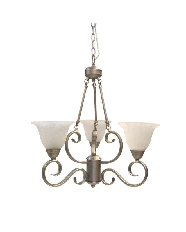 epiphany lighting 100313 bn three light chandelier in brushed nickel
