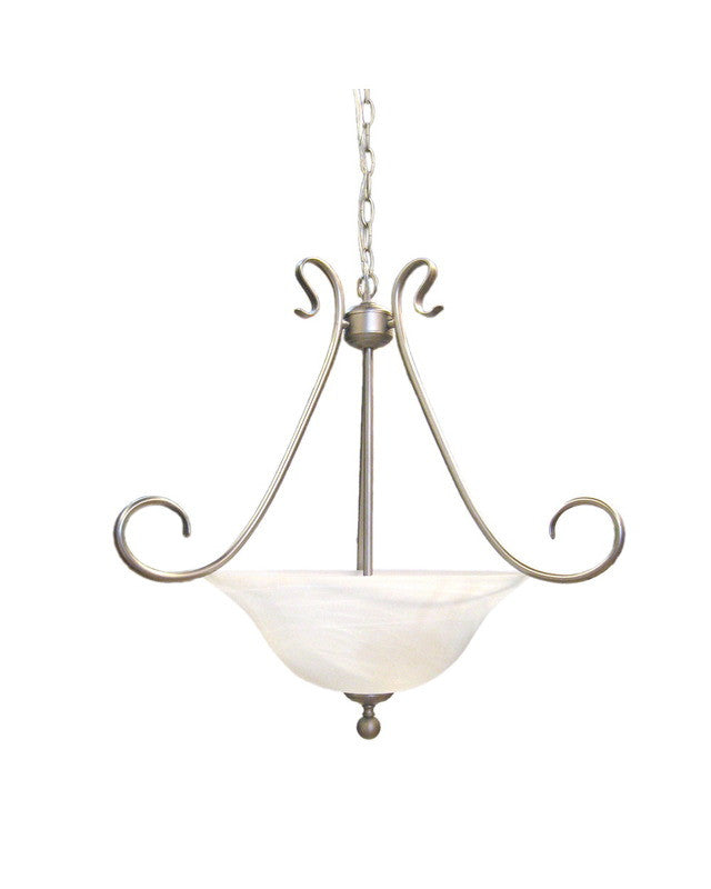 epiphany lighting 102011 bn three light pendant chandelier in brushed  u2014 quality discount lighting