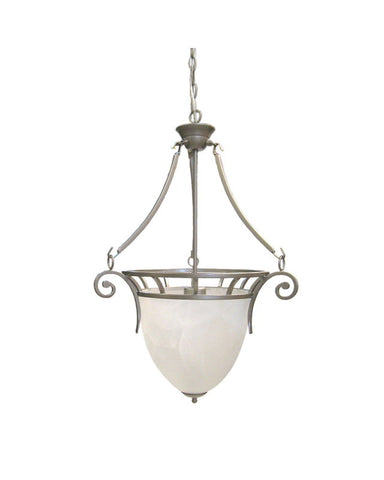 Epiphany Lighting 102142 BN One Light Pendant Chandelier in Brushed Nickel Finish - Quality Discount Lighting