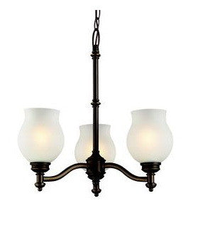 Z-Lite Lighting 301-3-OB Three Light Chandelier in Oil Rubbed Bronze Finish - Quality Discount Lighting