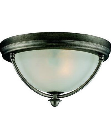 Z-Lite Lighting 902F-AP Two Light Ceiling Fixture in Antique Silver Finish - Quality Discount Lighting