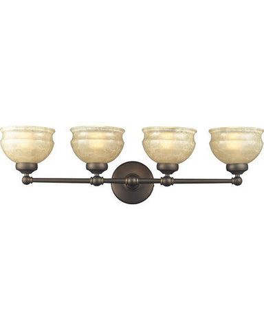 Z-Lite Lighting 305-4V Four Light Bath Vanity Wall Fixture in Olde Bronze Finish - Quality Discount Lighting