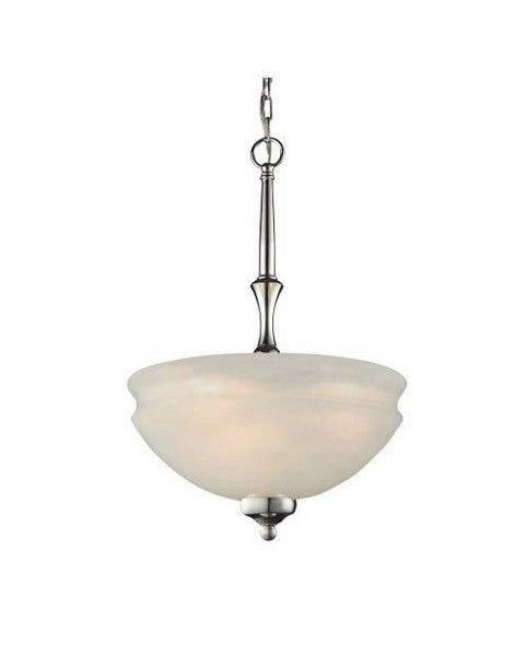 Z-Lite Lighting 303P Three Light Pendant Chandelier in Polished Nickel Finish - Quality Discount Lighting