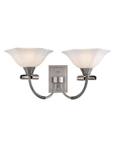Z-Lite Lighting 701-2S Two Light Wall Sconce in Satin Nickel Finish - Quality Discount Lighting