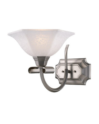 Z-Lite Lighting 701-1V One Light Wall Sconce in Satin Nickel Finish - Quality Discount Lighting