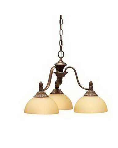 Kichler Lighting 1975 TZ Three Light Chandelier in Tannery Bronze Finish - Quality Discount Lighting