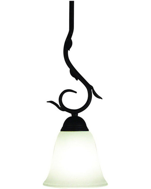 Z-Lite Lighting 401R6 One Light Mini Pendant in Sand Black Wrought Iron Finish - Quality Discount Lighting