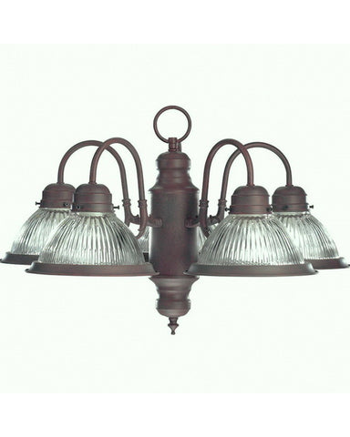 Designers Fountain Lighting 4208 DB Prismatic Collection 5 Light Chandelier in Distressed Bronze Finish - Quality Discount Lighting