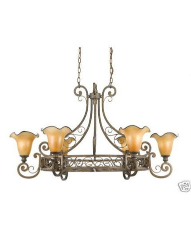 Quoizel Lighting FS642 ML Flourish Collection Six Light Chandelier in Malaga Finish - Quality Discount Lighting